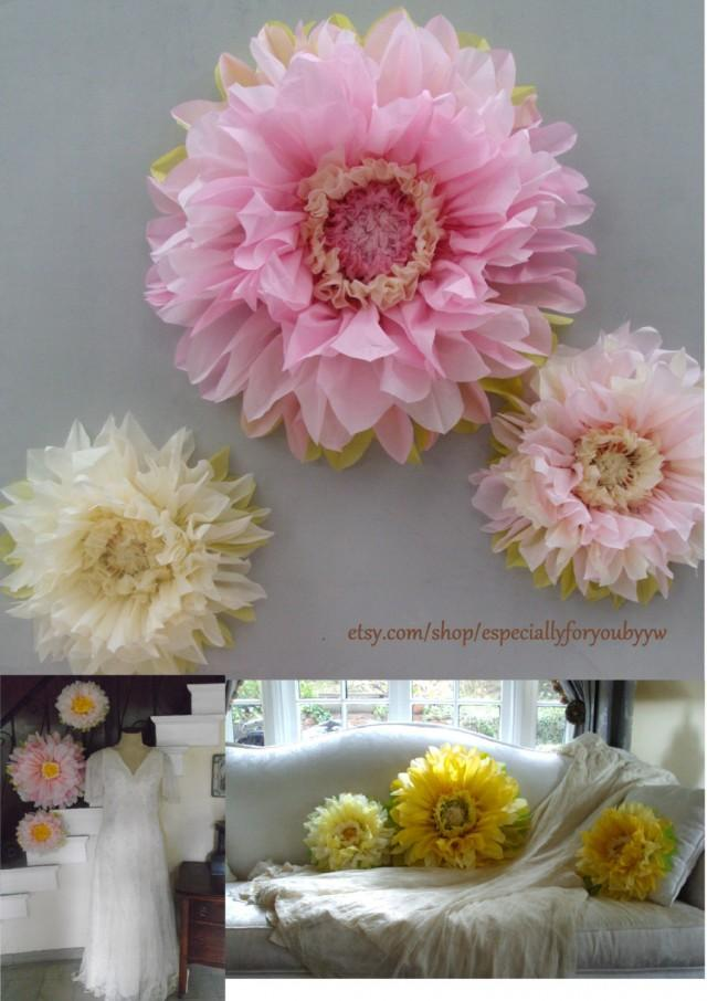 paper wedding decorations birthday decorations set of 3 paper flowers 6376