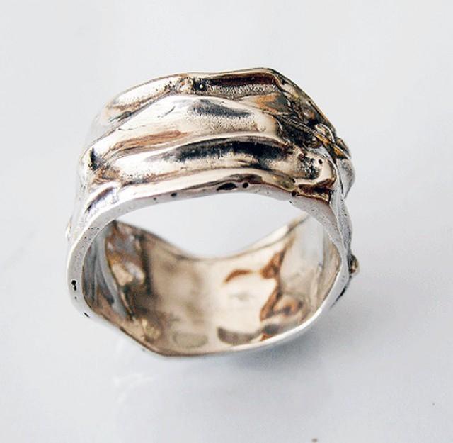 Sterling Silver Wide Band Ring Thumb Uni Israeli Jewelry Mens Wedding 2481920 Weddbook