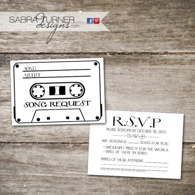 Cette Tape Rsvp Card Song Request Wedding With Diy 2483447 Weddbook