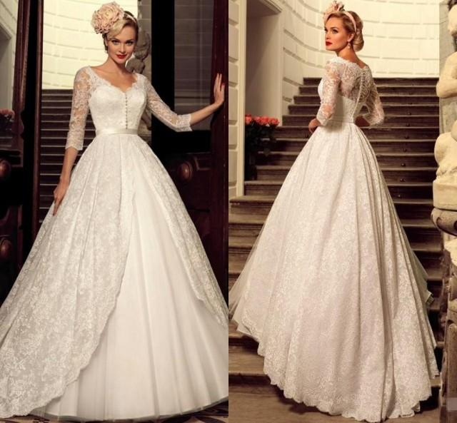 cheap ball gown wedding dresses designer 2016 plus size vintage lace wedding dresses 2568