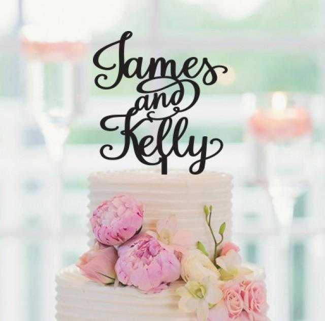 Personalized Wedding Decorations Personalized Cake Topper Bride And Groom Names Custom Cake Topper Wedding Cake Topper Sweets Table 2496631 Weddbook