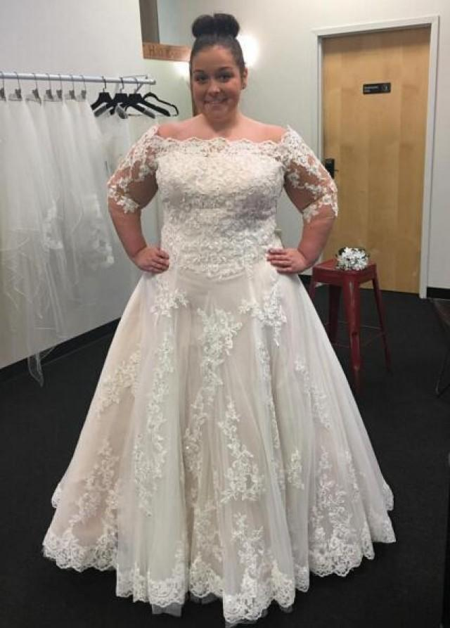 plus size lace wedding dresses with sleeves modest bateau neck 2016 plus size wedding dresses cheap 6674