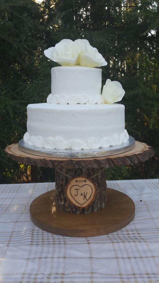 wedding cake display stands wood cupcake stand personalized cake stand log cake 8632