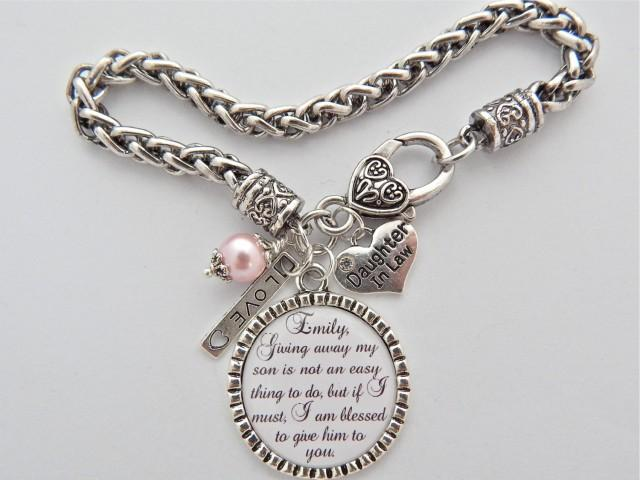 Future Daughter In Law Bracelet Gift Bride To Be Charm Giving Away My Son Is Not An Easy Thing Do 2500987 Weddbook