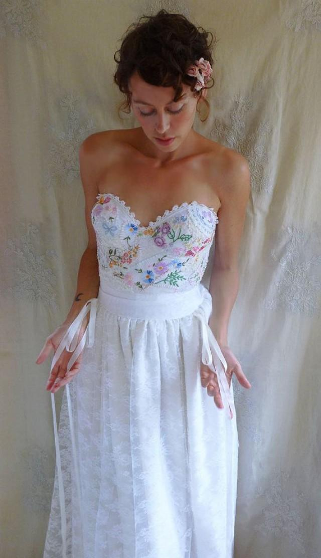 bustier for wedding dress reserved meadow bustier wedding gown whimsical dress 2153