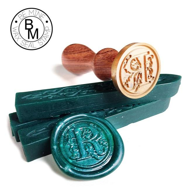 single letter wax seal script style s wax seal stamp letter initial floral font decorative 151