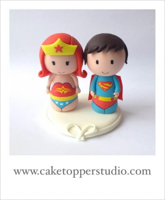 superman and wonder woman wedding cake topper superman and wedding cake topper 20614