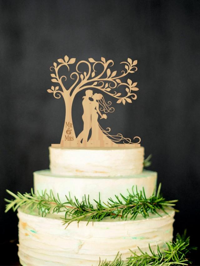 wedding cake topper personalized groom wood cake topper mr mrs tree cake topper 8810