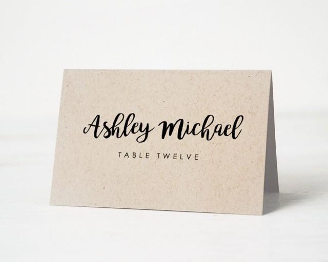 Favorite Printable Place Card Template, Wedding Place Cards, Escort Card  MC26