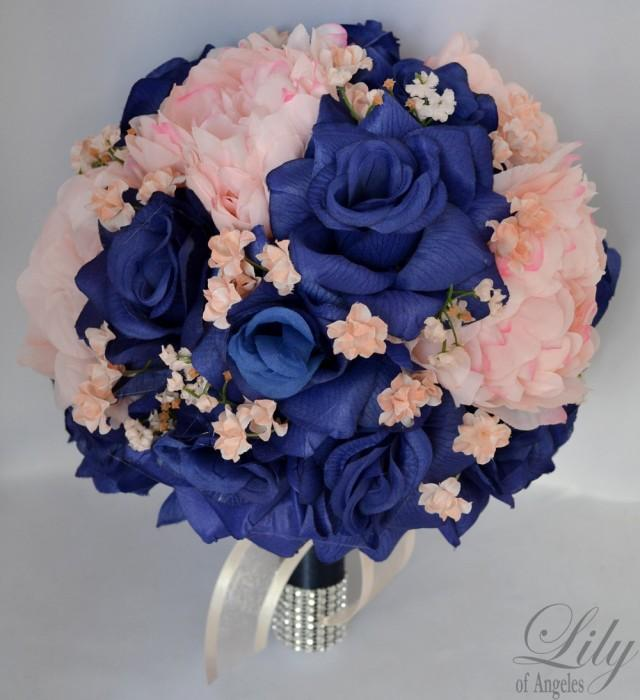 navy blue wedding flowers 17 package wedding bridal of honor 6124