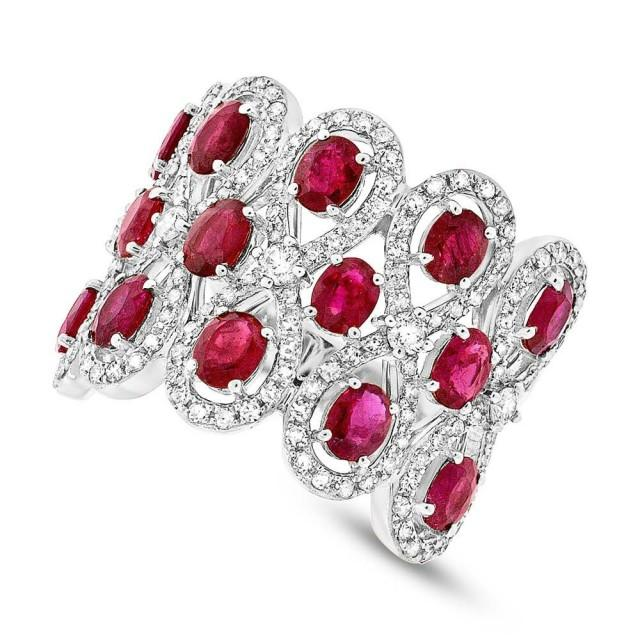 ruby wedding ring ruby amp 14k white gold ring wedding rings 7179