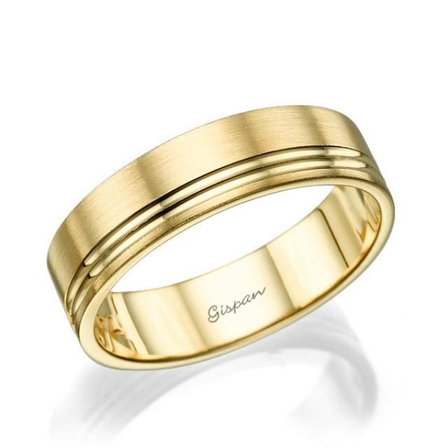 mens wedding rings gold mens wedding band wedding ring 14k gold ring mens 5816