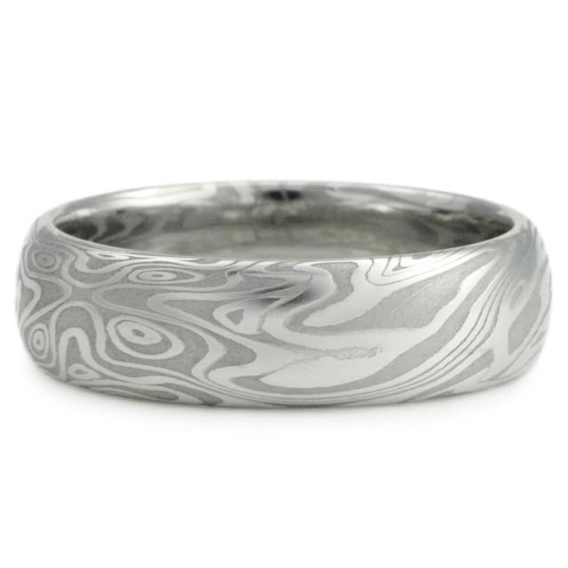 Mens Damascus Wedding Bands