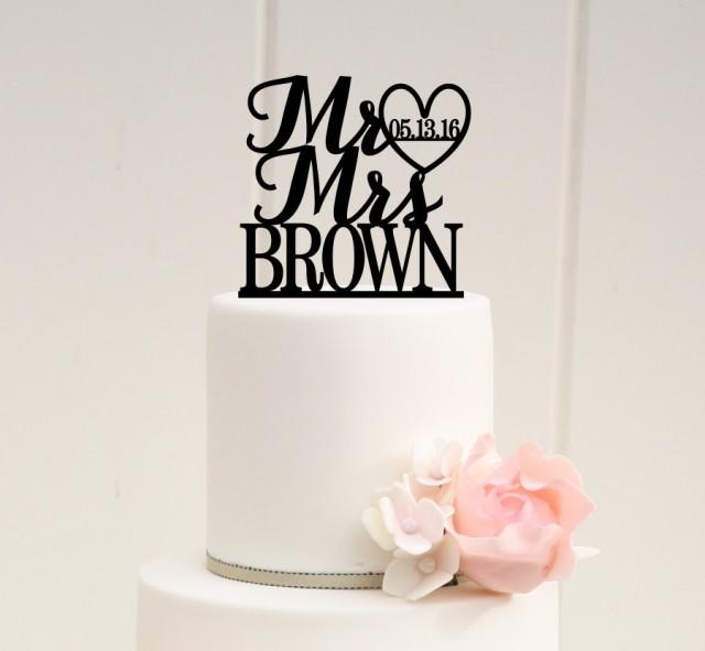 mr and mrs wedding cake topper mr and mrs wedding cake topper with and wedding date 17629