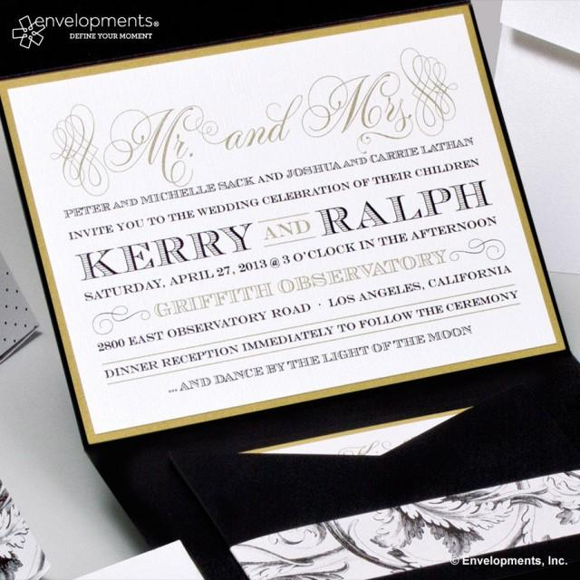 black and gold wedding invitations gold wedding invitations classic black and gold 1803