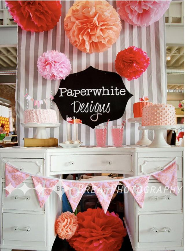 paper wedding decorations tissue paper pompoms dessert table decorations baby 6376
