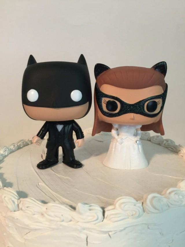 batman and catwoman wedding cake topper custom funko pop batman and wedding cake toppers 11115