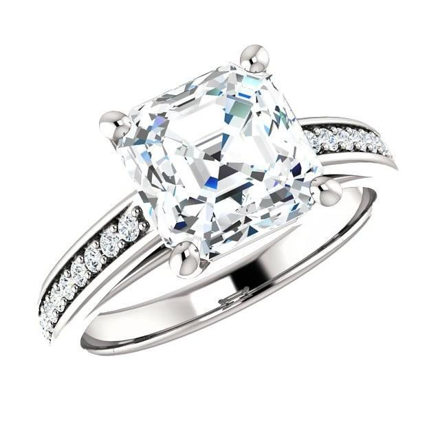 Cyber Monday Engagement Ring Deals 2016 8mm Cher Cut Forever One Moissanite Diamond 2585594 Weddbook