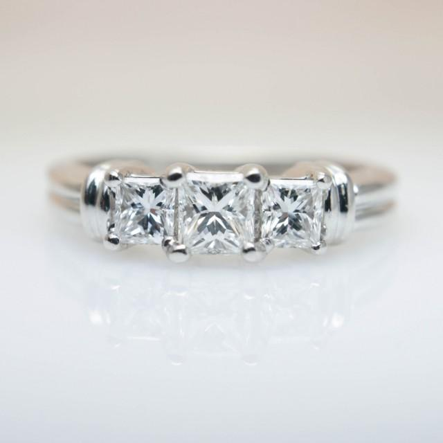 3 Stone Princess Cut Diamond Engagement Ring Wedding 14k White Gold Band Jewelry 2589788 Weddbook
