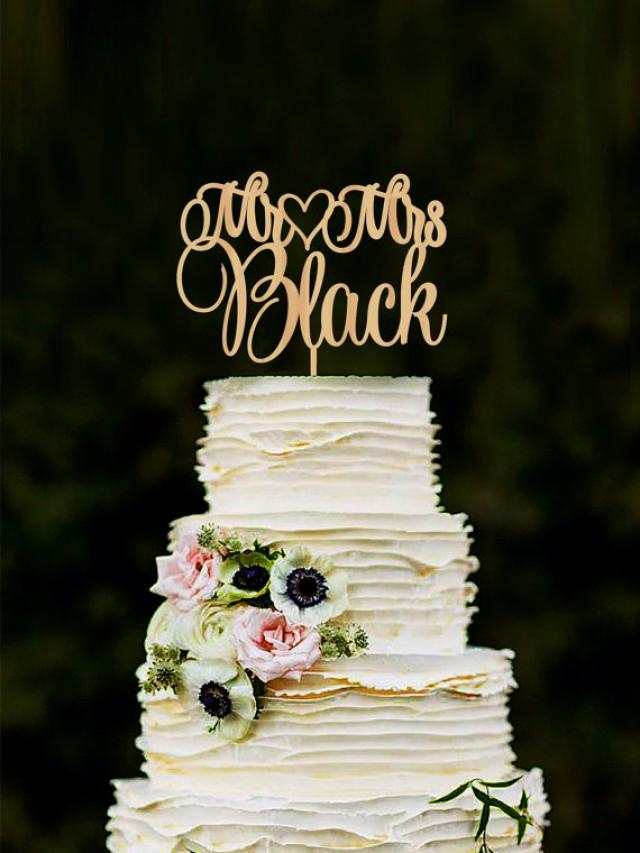 wedding cake topper personalized mr mrs wedding cake topper custom last name personalized 8810