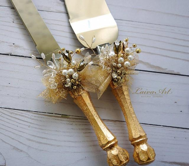 gold wedding cake knife gold wedding cake server set amp knife cake cutting set 14814
