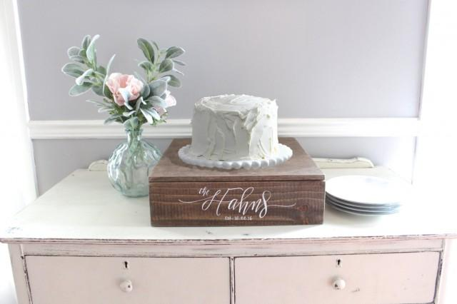 box wedding cake stand rustic wedding cake stand wooden cake stand wedding 12115