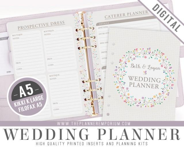 wedding planner organizer a5 ultimate wedding planner organizer kit instant 30042