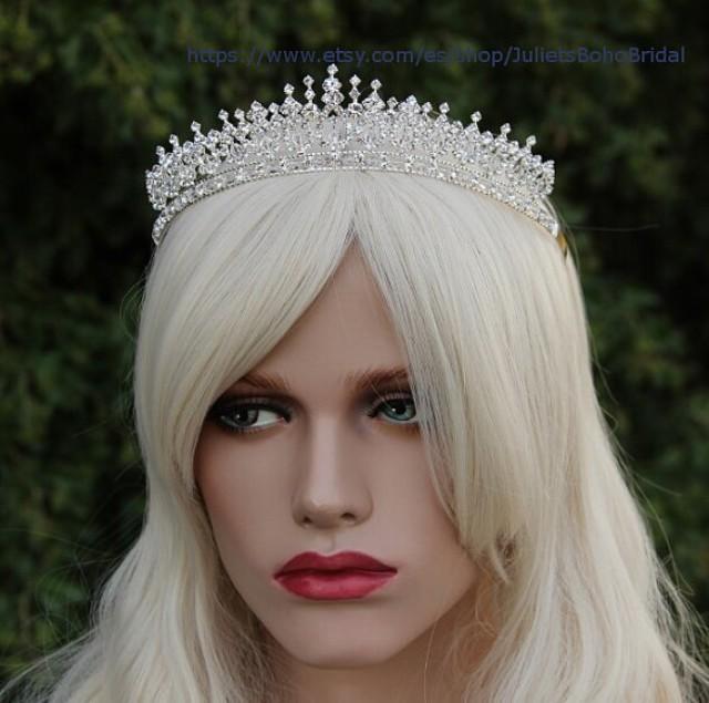 Bridal Tiara Royal Crystal Wedding Crown