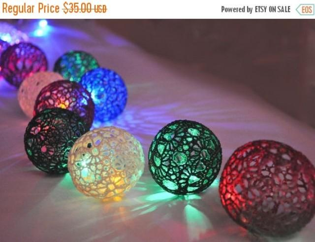 On Sale Christmas Lights Night Lights Bedroom Decor Lamps Fairy Lights String Lights 20 Lace Crocheted Colorful Balls Garland Light 2616250 Weddbook