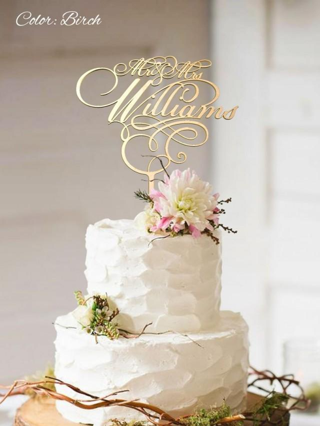 gold wedding cake toppers wedding cake topper fn27 custom surname cake topper 4546