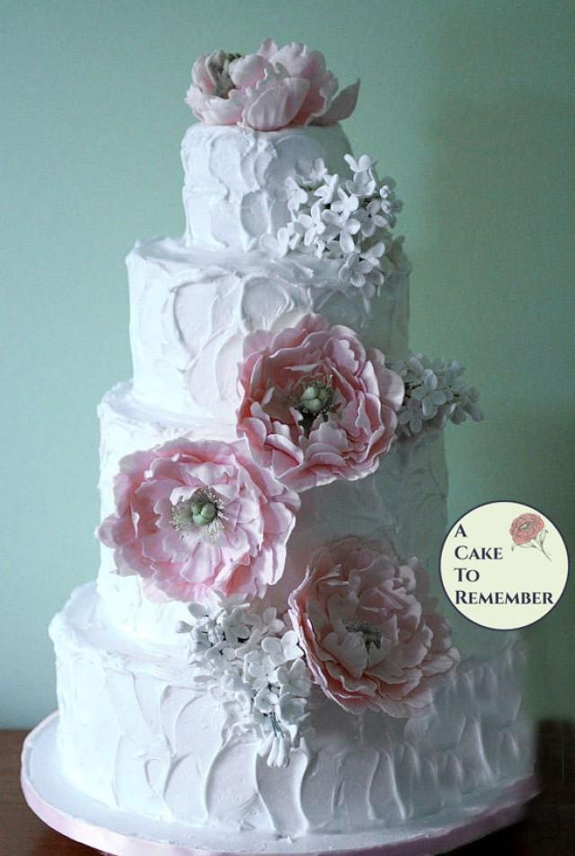 edible sugar flowers for wedding cakes 2 gumpaste peonies and lilacs for wedding cake sugar 3830
