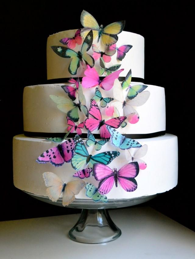 wedding cake edible decorations wedding cake topper wedding cake topper edible butterflies 8636