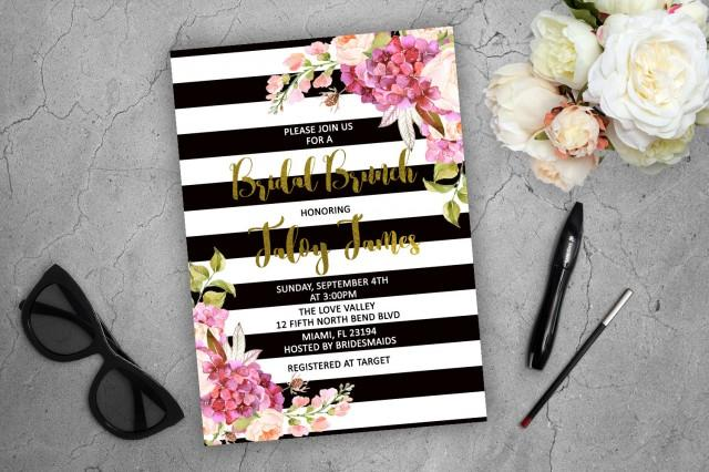 kate spade wedding invitations bridal brunch invitation kate spade inspired floral 5291