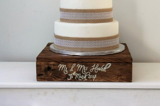 custom made wedding cake stands wedding cake stand wooden cake stand personalised 13216