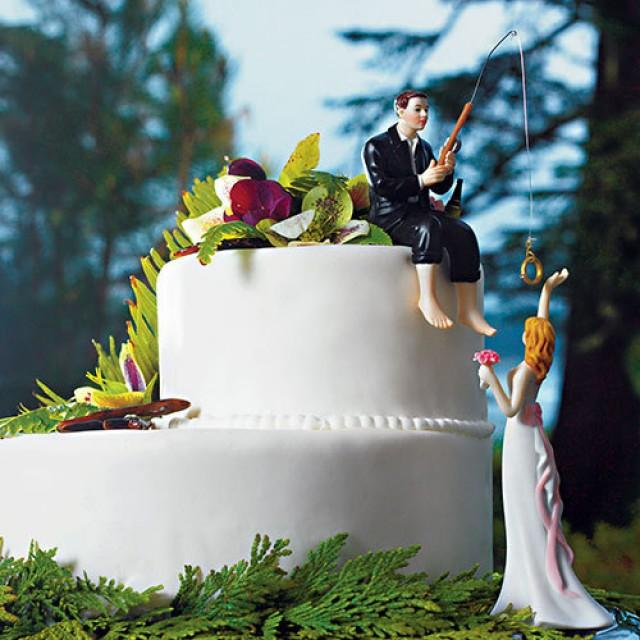 Hooked On Love Bride Groom Wedding Cake Topper Porcelain Fishing S Fisherman Idea Fish Loving Sports 2676524 Weddbook