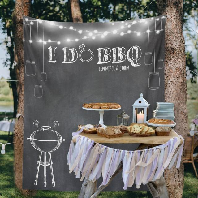 Backyard Wedding, Custom Tapestry, Party Backdrop, Dessert ... on Backyard Table Decor id=84900