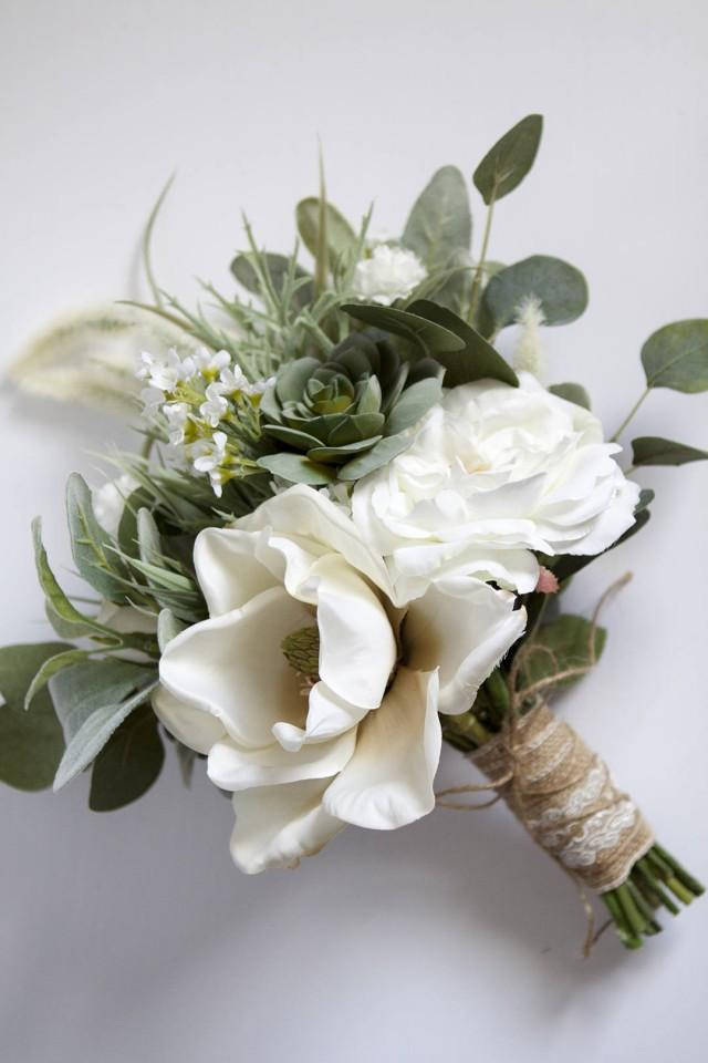 bouquet of flowers for weddings white wedding bouquet greenery succulent bridal bouquet 2031