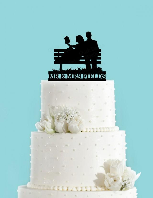 wedding cakes in reading custom reading on park bench and groom 24748