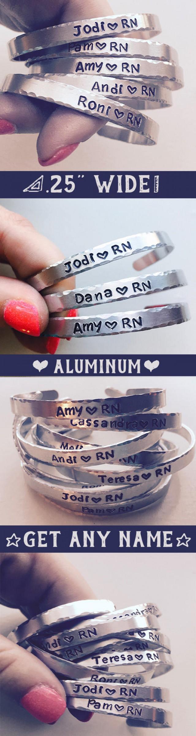 15 Off Gift For Nurses Gifts Under 10 Handstamped Bracelet Cna Reciation Week Nurse Graduate Personalized F 2741313