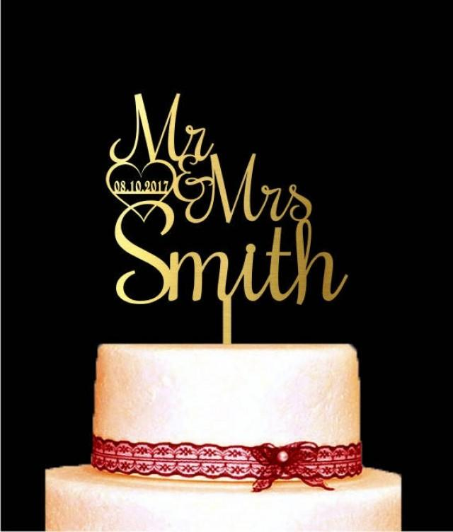 wedding cake topper name and date customized wedding cake topper mr and mrs with 26363